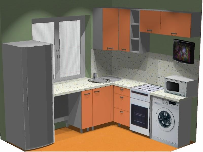Маленька кухня: секрети збільшення робочого простори