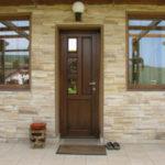 322 Двері вхідні пластикові зі склом