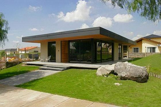 Будинок з односхилим дахом одноповерховий