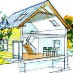 1195 Пристрій мансардного даху дерев'яного будинку