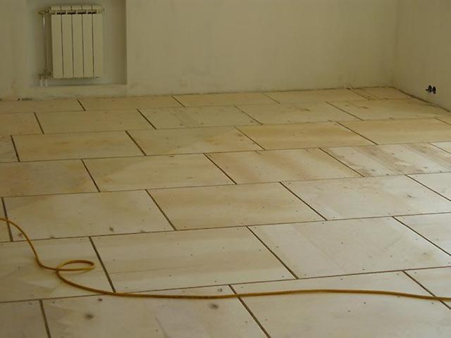 3251 Вирівнювання дерев'яної підлоги фанерою