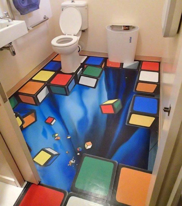 3d підлоги у ванній – фантазія чи реальність