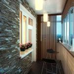 4357 Натяжна стеля на лоджії або балконі