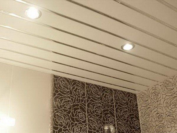 Ремонт стелі на кухні пластиковими панелями