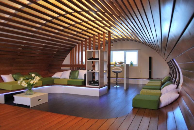 Застосування панелей з дерева для стелі та стін