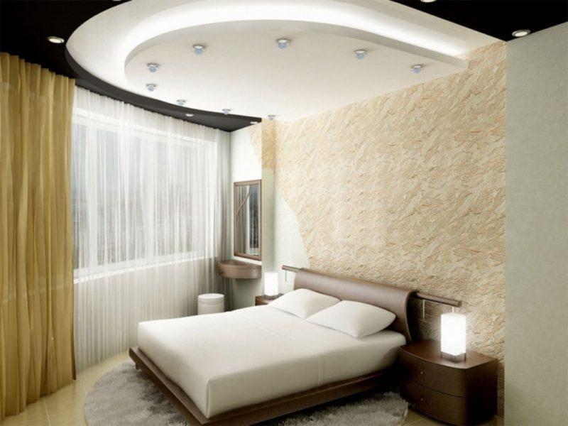 Стеля з гіпсокартону для спальні