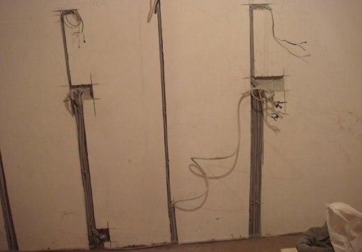 Штроблення стін під проводку