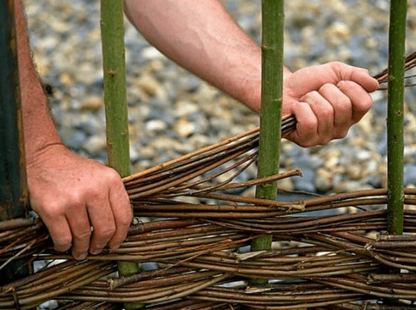 Робимо плетений тин своїми руками