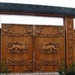 8935 Ворота дерев'яні своїми руками - докладна інструкція