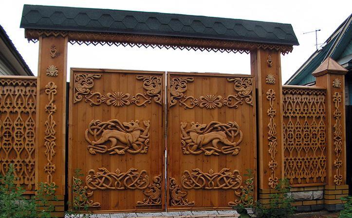 Ворота дерев'яні своїми руками — докладна інструкція