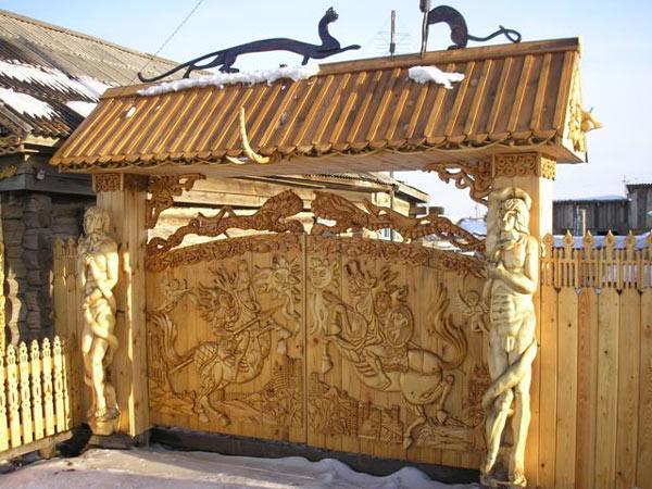 Ворота дерев'яні своїми руками – докладна інструкція