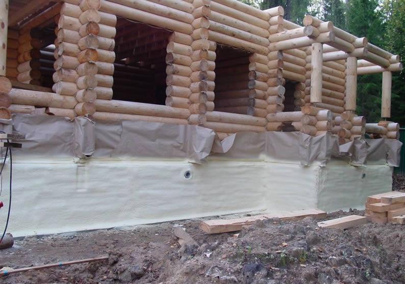 Зовнішнє утеплення брусового будинку