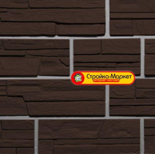 31716 Фасадні панелі Фасайдинг «Дачний» — Серія «Сланець», Коричневий