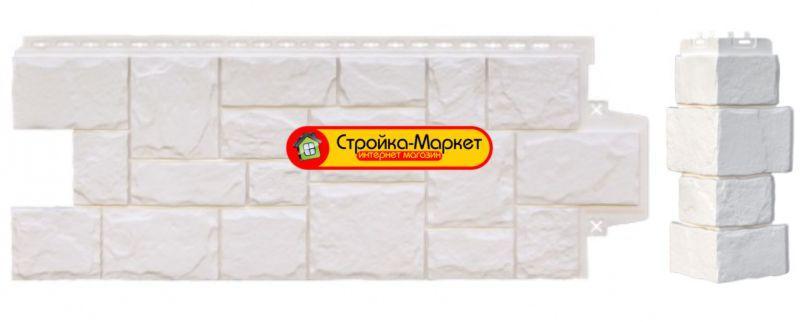 31262 Фасадні панелі Grand Line, «Великий камінь» — Молочний