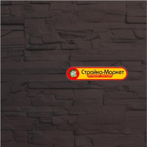36137 Фасадні панелі Аэлит — Пласт плоский, коричневий