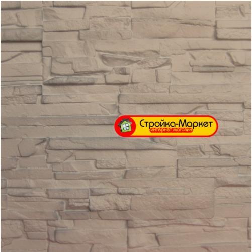 Фасадні панелі Аэлит — Пласт плоский, бежевий