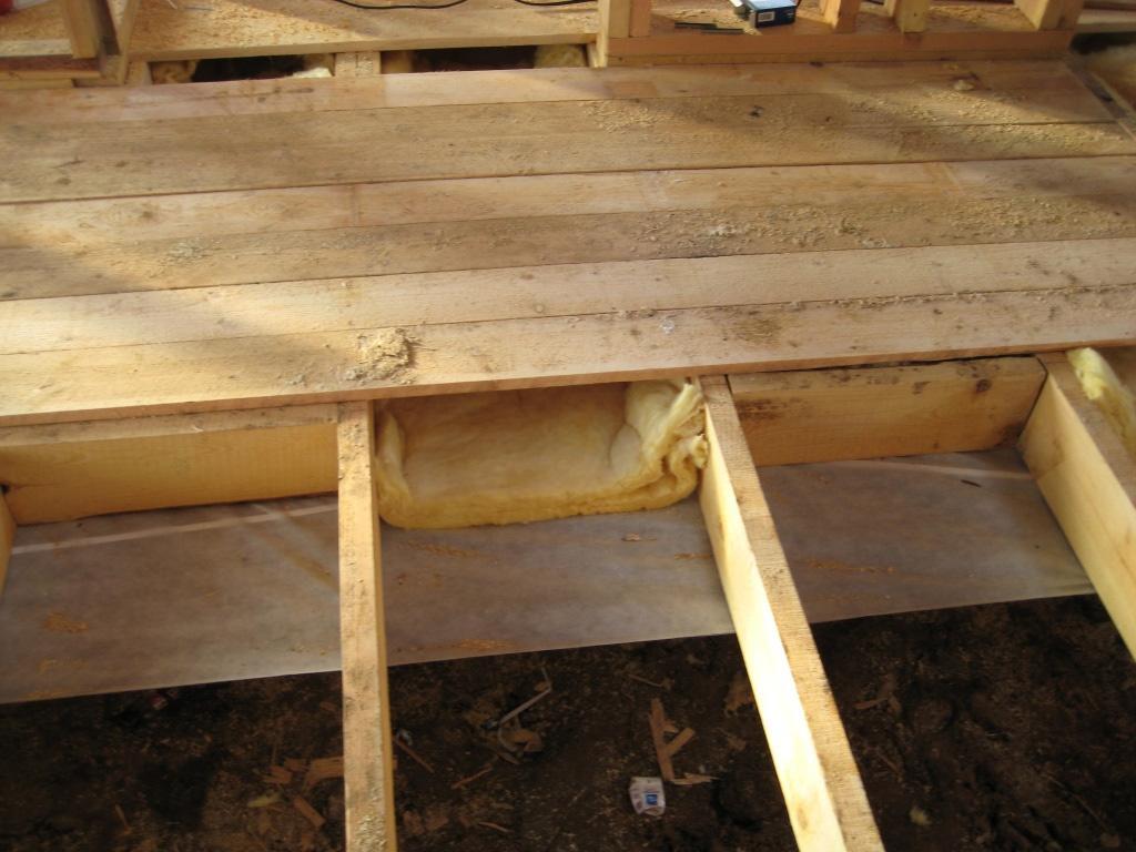 37409 Утеплення підлоги підвалу в дерев'яному будинку
