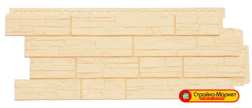 Фасадная панель Grand Line Сланец — Бежевый