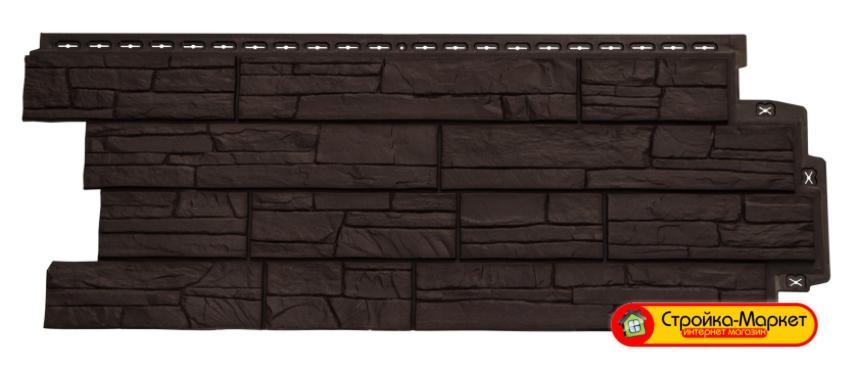42507 Фасадная панель Grand Line Сланец — Коричневый