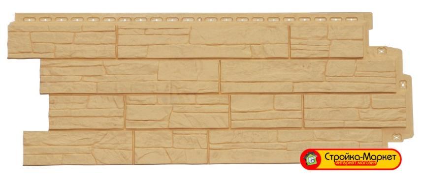 42408 Фасадная панель Grand Line Сланец — Песочный