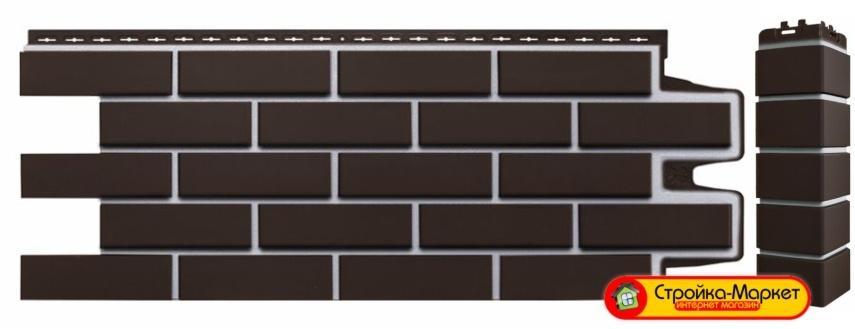 44174 Фасадные панели Grand Line, «Клинкерный кирпич» Премиум — Шоколадный