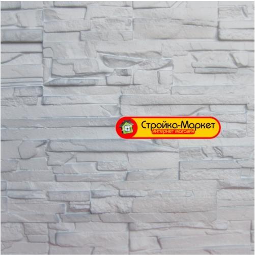 Фасадные панели Аэлит — Пласт плоский, белый