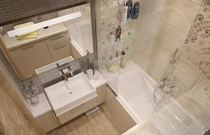 48359 Малогабаритні ванні кімнати: Ідеї, які допоможуть організувати все в крихітному приміщенні