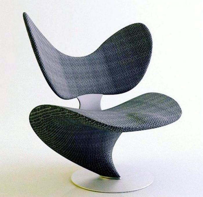 Футуристичный стул. | Фото: Кликабол.