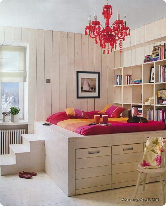 Фотография: в стиле , Малогабаритная квартира, Квартира, Советы, Бежевый, Бирюзовый, Зонирование, как зонировать комнату, как зонировать однушку, как зонировать однокомнатную квартиру – фото на InMyRoom.ru