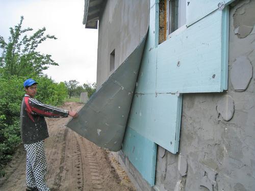 49651 Утепление наружного фасада здания пенопластом своими руками