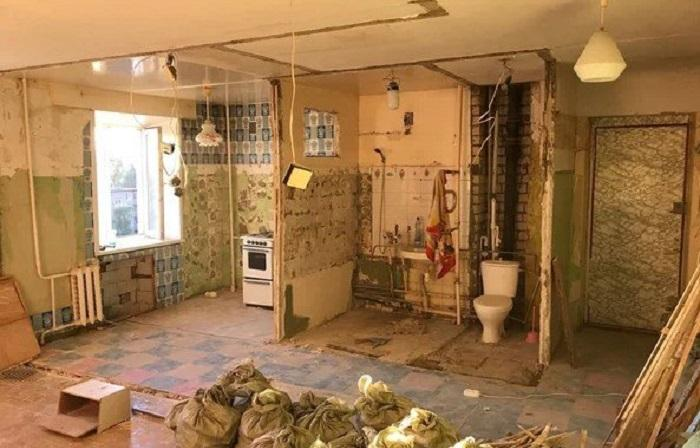 50287 Хозяин «хрущевки» сломал ненужные стены и превратил ее в современные апартаменты