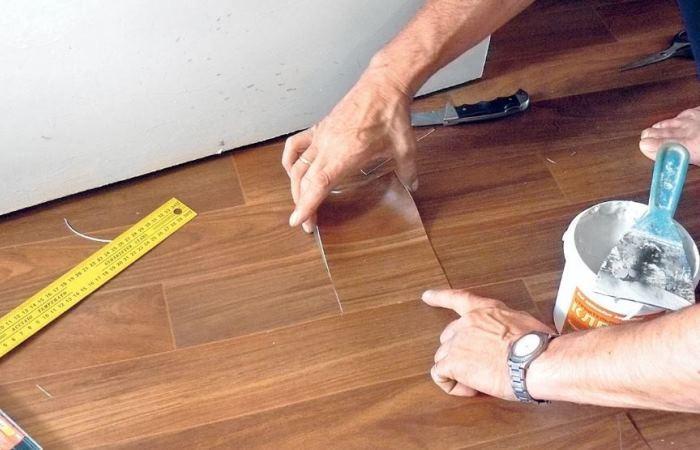50359 Как убрать вмятины в линолеуме