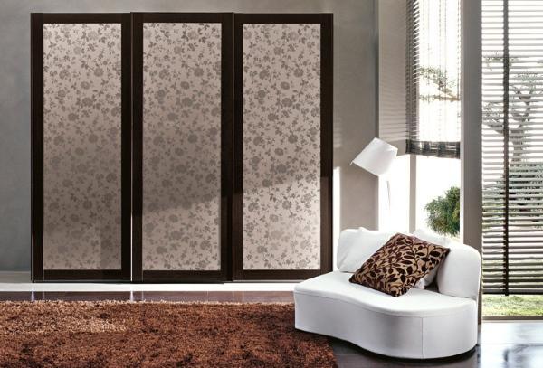 Двери для шкафа купе с цветочным рисунком