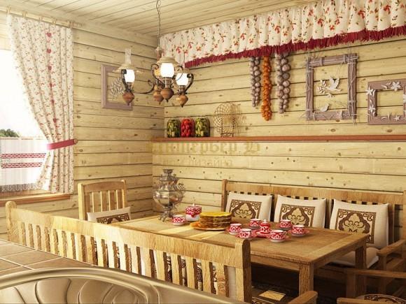 Особенности русского деревенского стиля