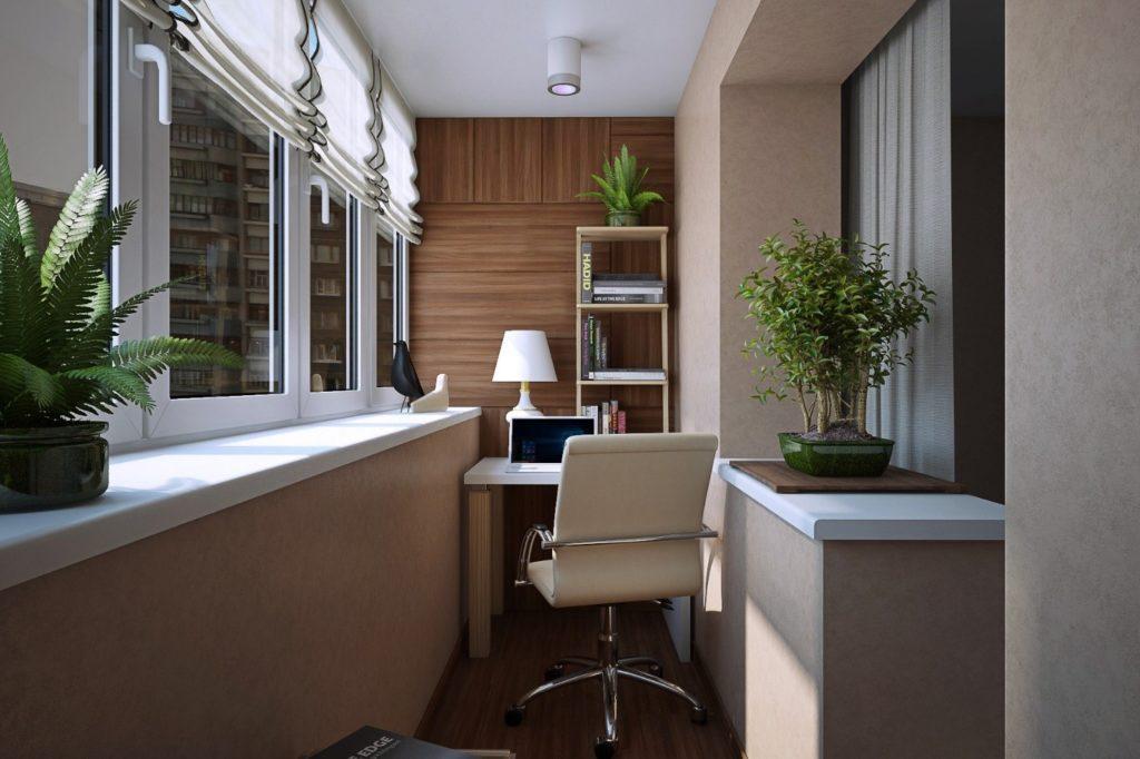 Преобразование пустующего балконного пространства в удобный тёплый кабинет