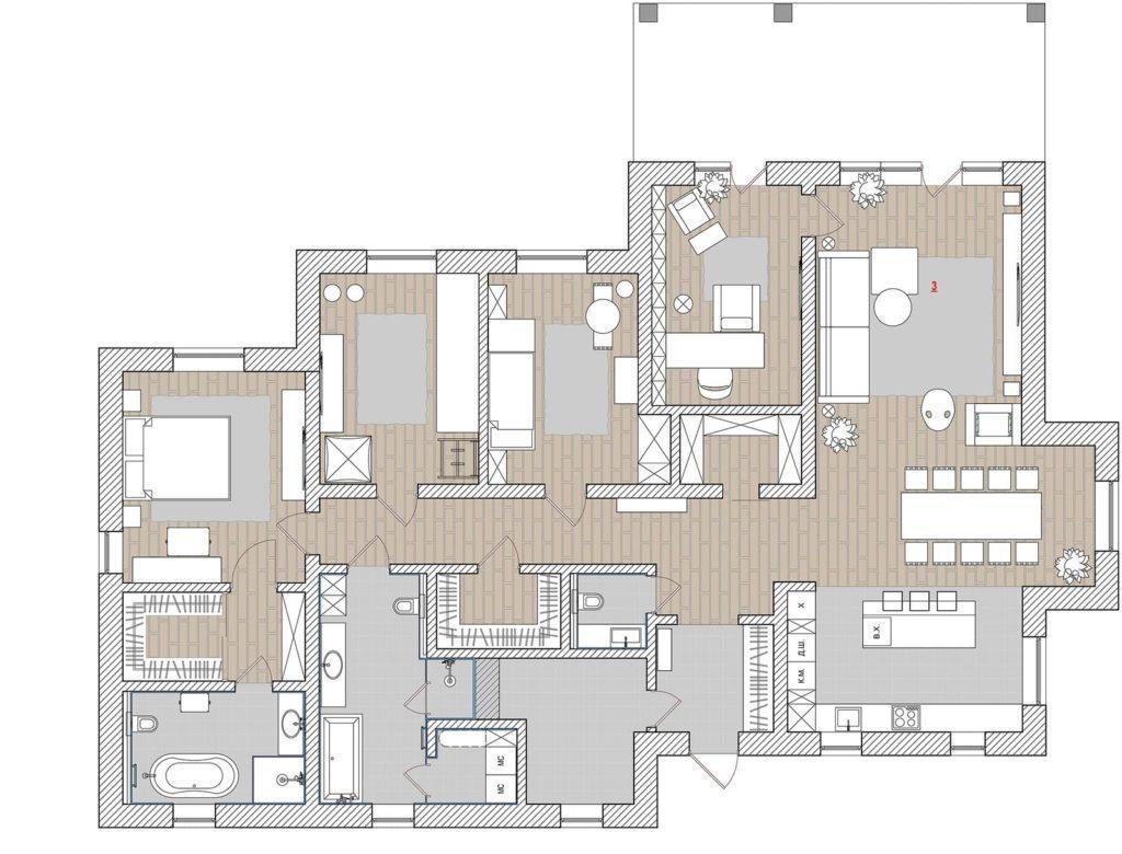 Интерьер дома площадью 196 кв. метров в Днепре