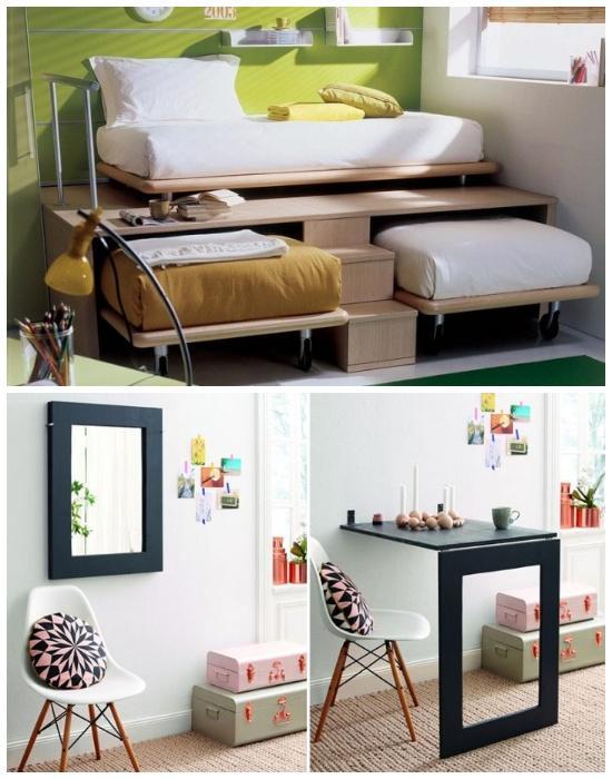 Лучшие варианты мебели для маленьких площадей.