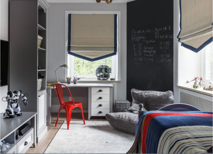 Стильная и современная детская комната.