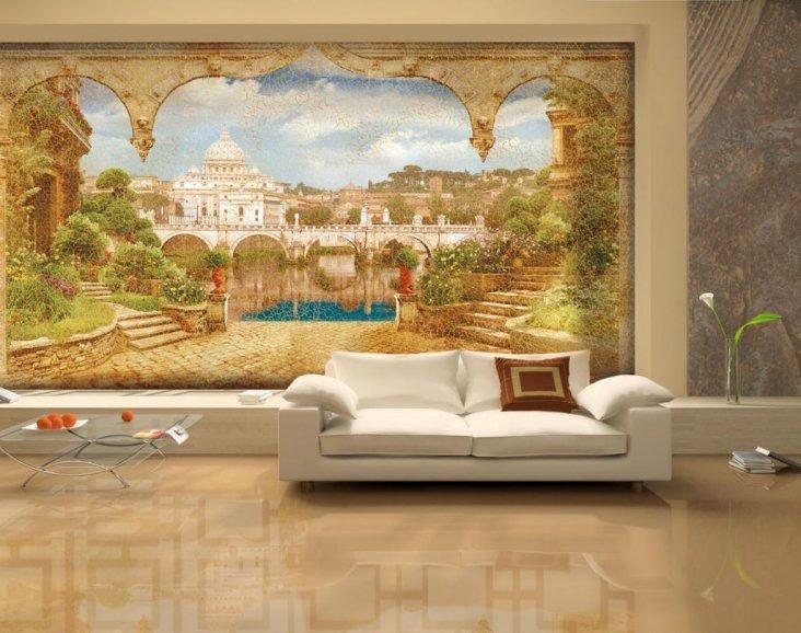 51497 Фрески на стенах: материалы, особенности поклейки