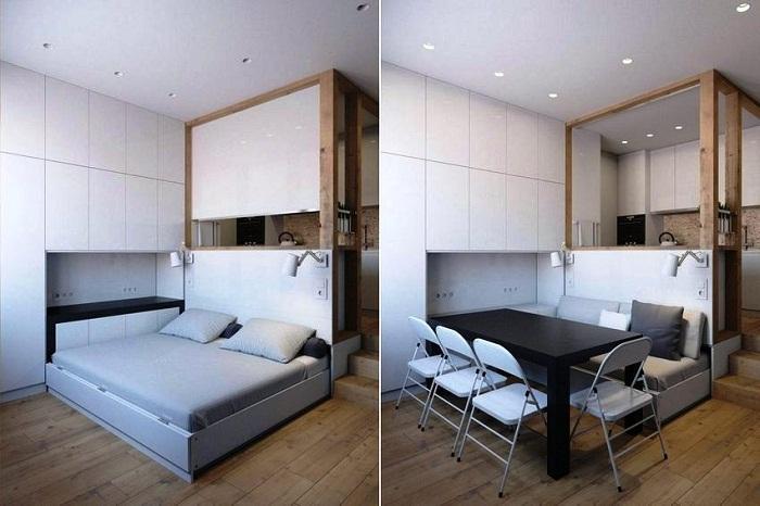 Смарт-мебель – идеальный вариант для маленьких квартир.   Фото: cpykami.ru.