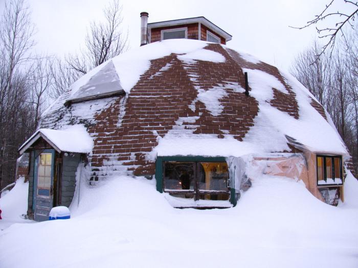 Снег и дождь будут скатываться с купола. | Фото: liveinternet.ru