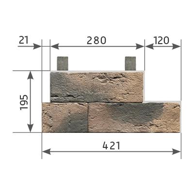 51912 Угол составной левый и правый