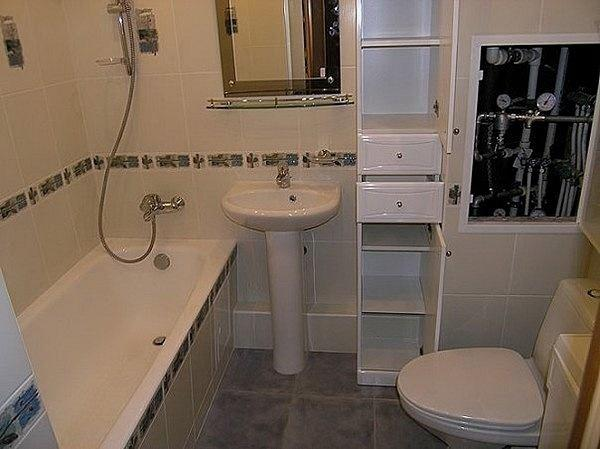 52087 Как можно спрятать сантехнические трубы в ванной комнате, если нет возможности скрыть их внутри стены