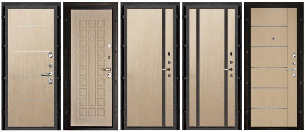 52159 Отделка дверей панелями МДФ