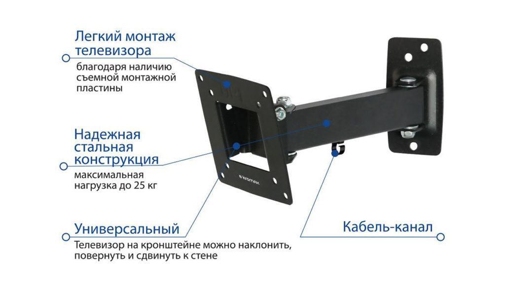 52245 Устройства для настенного крепления телевизоров: виды специальных кронштейнов и порядок их монтажа