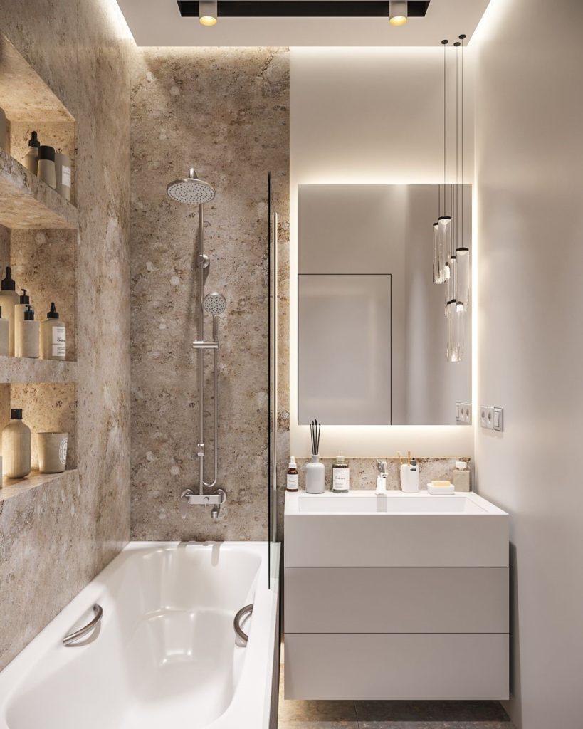 Секреты расширения пространства в маленькой ванной комнате