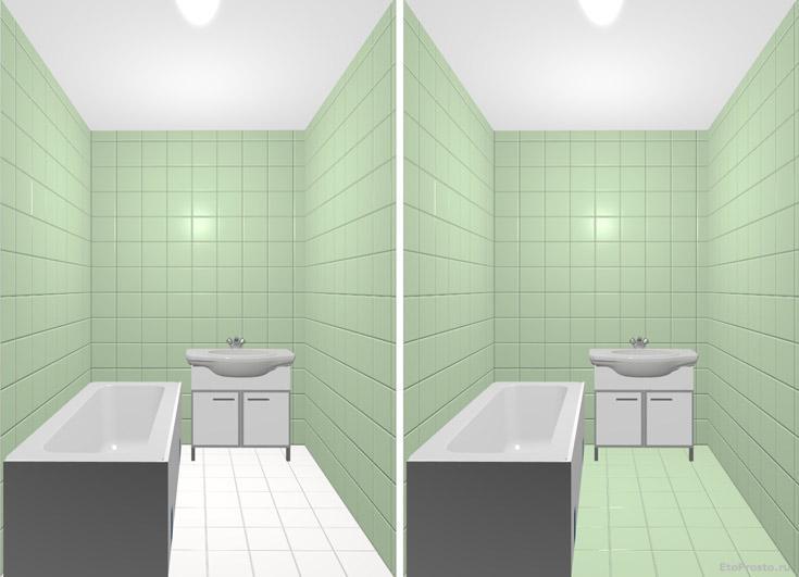 52862 Секреты расширения пространства в маленькой ванной комнате