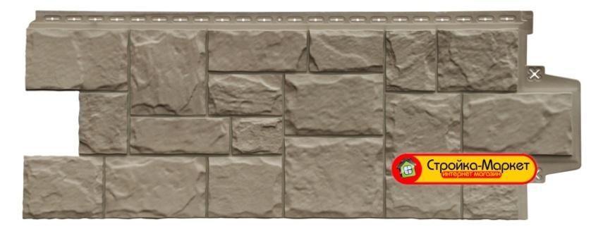 """Фасадные панели Grand Line, """"Крупный камень"""" Элит - Какао"""