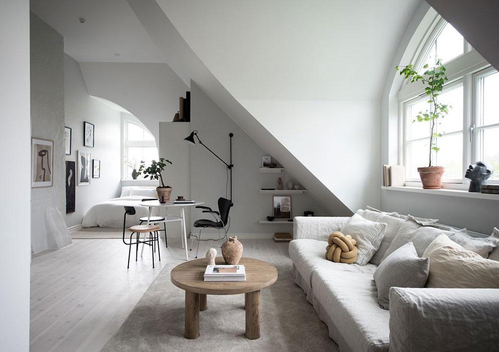 53169 Маленькая квартира под самой крышей в Гетеборге