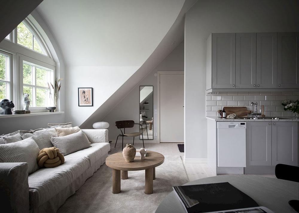 Маленькая квартира под самой крышей в Гетеборге